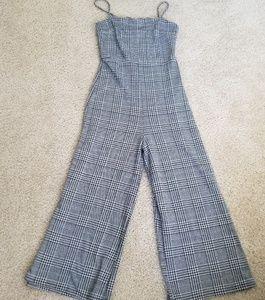 ce45b60d687b Forever 21 Pants - Glen Plaid Wide-Leg Jumpsuit